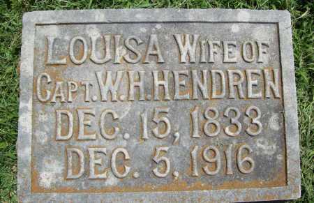 HENDREN, LOUISA - Benton County, Arkansas   LOUISA HENDREN - Arkansas Gravestone Photos