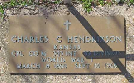 HENDRIXSON (VETERAN WWI), CHARLES C - Benton County, Arkansas | CHARLES C HENDRIXSON (VETERAN WWI) - Arkansas Gravestone Photos