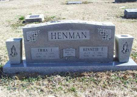 HENMAN, EMMA F. - Benton County, Arkansas | EMMA F. HENMAN - Arkansas Gravestone Photos