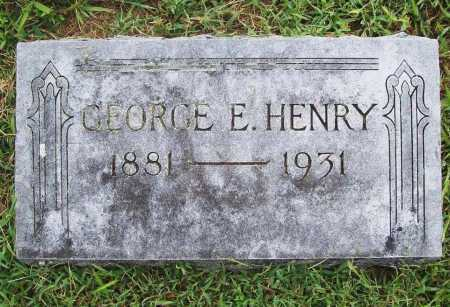 HENRY, GEORGE E. - Benton County, Arkansas | GEORGE E. HENRY - Arkansas Gravestone Photos