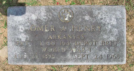 HENRY (VETERAN WWI), OMER A - Benton County, Arkansas | OMER A HENRY (VETERAN WWI) - Arkansas Gravestone Photos
