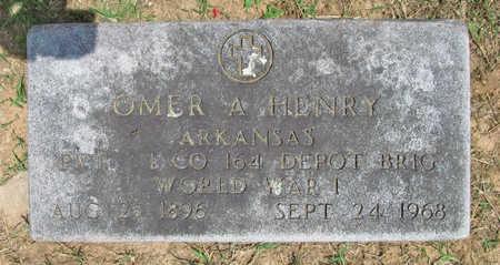 HENRY (VETERAN WWI), OMER A - Benton County, Arkansas | OMER A HENRY (VETERAN WWI) - Arkansas Gravestone Photos