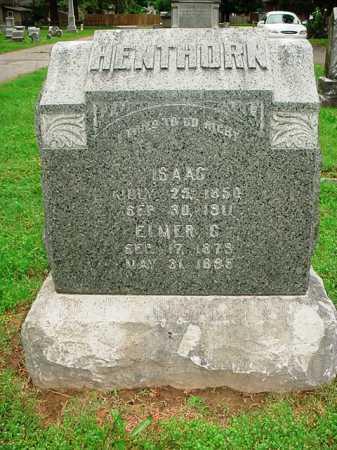 HENTHORN, ISAAC - Benton County, Arkansas | ISAAC HENTHORN - Arkansas Gravestone Photos