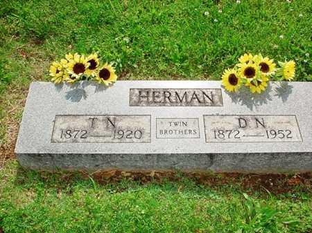 HERMAN, D. N. - Benton County, Arkansas   D. N. HERMAN - Arkansas Gravestone Photos