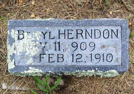 HERNDON, BERYL - Benton County, Arkansas | BERYL HERNDON - Arkansas Gravestone Photos
