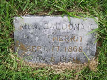 HERRIT, CALDONA C. - Benton County, Arkansas   CALDONA C. HERRIT - Arkansas Gravestone Photos