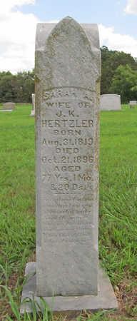 HERTZLER, SARAH A - Benton County, Arkansas   SARAH A HERTZLER - Arkansas Gravestone Photos