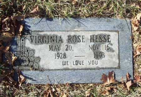 HESSE, VIRGINIA ROSE - Benton County, Arkansas   VIRGINIA ROSE HESSE - Arkansas Gravestone Photos