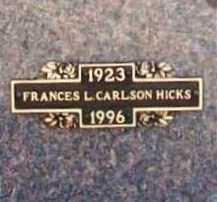HICKS, FRANCES L. - Benton County, Arkansas | FRANCES L. HICKS - Arkansas Gravestone Photos