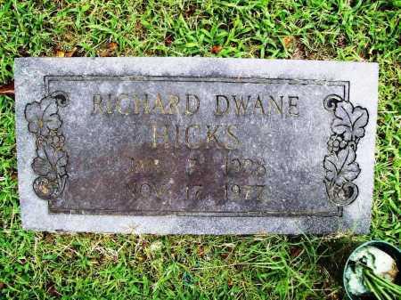 HICKS, RICHARD DWAYNE - Benton County, Arkansas | RICHARD DWAYNE HICKS - Arkansas Gravestone Photos