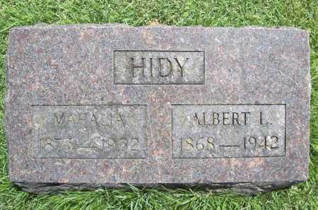 HIDY, ALBERT L. - Benton County, Arkansas | ALBERT L. HIDY - Arkansas Gravestone Photos