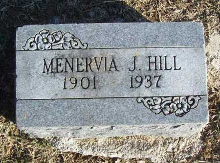 HILL, MENERVIA J. - Benton County, Arkansas | MENERVIA J. HILL - Arkansas Gravestone Photos