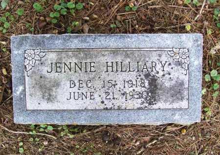 HILLIARY, JENNIE - Benton County, Arkansas | JENNIE HILLIARY - Arkansas Gravestone Photos