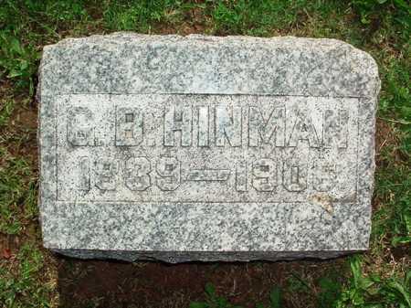 HINMAN, G. B. - Benton County, Arkansas | G. B. HINMAN - Arkansas Gravestone Photos