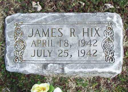HIX, JAMES R. - Benton County, Arkansas   JAMES R. HIX - Arkansas Gravestone Photos