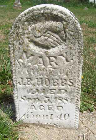 HOBBS, MARY - Benton County, Arkansas | MARY HOBBS - Arkansas Gravestone Photos