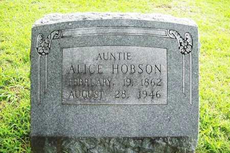 HOBSON, ALICE - Benton County, Arkansas   ALICE HOBSON - Arkansas Gravestone Photos