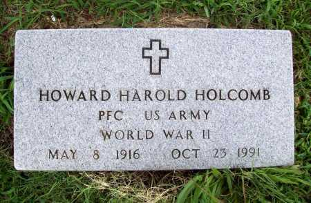 HOLCOMB (VETERAN WWII), HOWARD HAROLD - Benton County, Arkansas | HOWARD HAROLD HOLCOMB (VETERAN WWII) - Arkansas Gravestone Photos