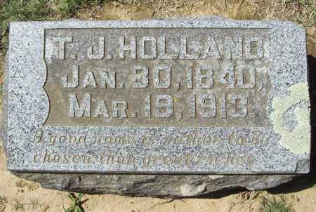 HOLLAND, T. J. - Benton County, Arkansas   T. J. HOLLAND - Arkansas Gravestone Photos