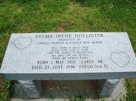 BLAND HOLLISTER, VELMA IRENE - Benton County, Arkansas | VELMA IRENE BLAND HOLLISTER - Arkansas Gravestone Photos