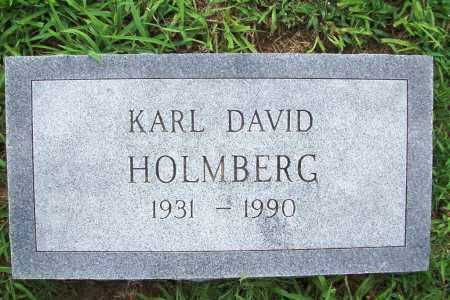 HOLMBERG, KARL DAVID - Benton County, Arkansas   KARL DAVID HOLMBERG - Arkansas Gravestone Photos