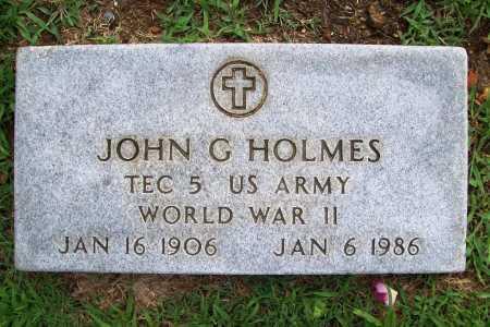 HOLMES (VETERAN WWII), JOHN G - Benton County, Arkansas | JOHN G HOLMES (VETERAN WWII) - Arkansas Gravestone Photos