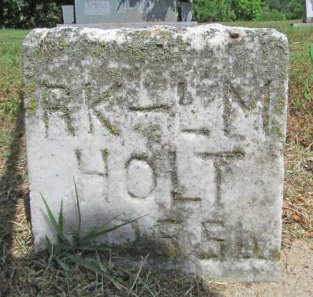 HOLT, L. M. - Benton County, Arkansas | L. M. HOLT - Arkansas Gravestone Photos