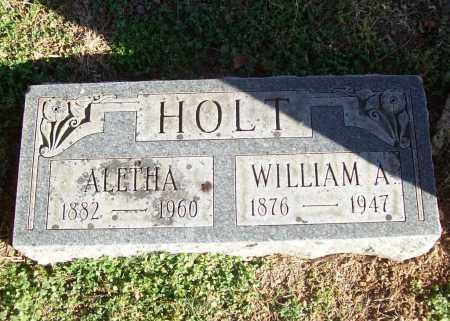 HOLT, WILLIAM A. - Benton County, Arkansas | WILLIAM A. HOLT - Arkansas Gravestone Photos