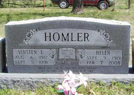 HOMLER, VINSTEN E. - Benton County, Arkansas | VINSTEN E. HOMLER - Arkansas Gravestone Photos