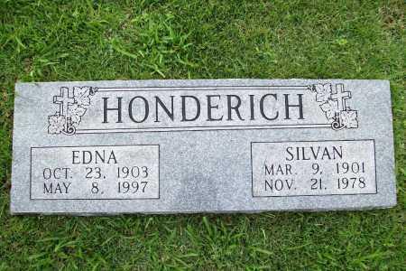 HONDERICH, EDNA - Benton County, Arkansas   EDNA HONDERICH - Arkansas Gravestone Photos