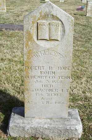 HOPE, ROBERT B - Benton County, Arkansas   ROBERT B HOPE - Arkansas Gravestone Photos