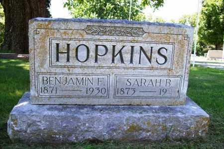 HOPKINS, SARAH B. - Benton County, Arkansas | SARAH B. HOPKINS - Arkansas Gravestone Photos