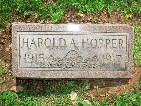 HOPPER, HAROLD A. - Benton County, Arkansas | HAROLD A. HOPPER - Arkansas Gravestone Photos