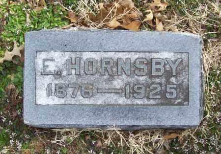 HORNSBY, E. - Benton County, Arkansas | E. HORNSBY - Arkansas Gravestone Photos
