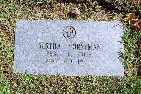 HORSTMAN, BERTHA - Benton County, Arkansas | BERTHA HORSTMAN - Arkansas Gravestone Photos