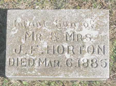 HORTON, INFANT SON - Benton County, Arkansas   INFANT SON HORTON - Arkansas Gravestone Photos