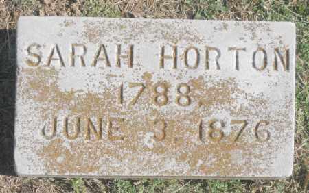 HORTON, SARAH - Benton County, Arkansas   SARAH HORTON - Arkansas Gravestone Photos