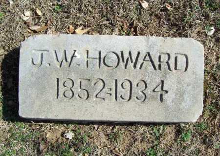 HOWARD, J. W. - Benton County, Arkansas   J. W. HOWARD - Arkansas Gravestone Photos