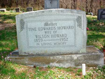 EDWARDS HOWARD, TINE - Benton County, Arkansas   TINE EDWARDS HOWARD - Arkansas Gravestone Photos