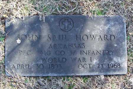 HOWARD (VETERAN WWI), JOHN SAUL - Benton County, Arkansas | JOHN SAUL HOWARD (VETERAN WWI) - Arkansas Gravestone Photos