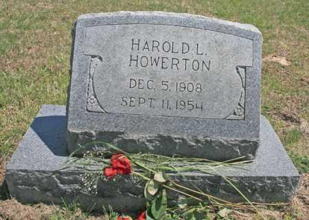 HOWERTON, HAROLD L. - Benton County, Arkansas | HAROLD L. HOWERTON - Arkansas Gravestone Photos