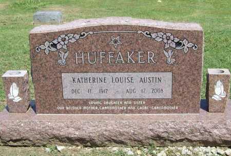 AUSTIN HUFFAKER, KATHERINE LOUISE - Benton County, Arkansas   KATHERINE LOUISE AUSTIN HUFFAKER - Arkansas Gravestone Photos