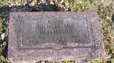 HUFFMASTER, GEORGIA ANN - Benton County, Arkansas   GEORGIA ANN HUFFMASTER - Arkansas Gravestone Photos