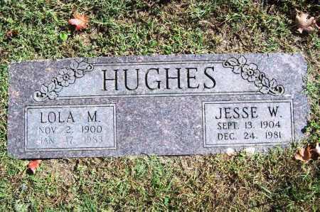 HUGHES, JESSE W. - Benton County, Arkansas   JESSE W. HUGHES - Arkansas Gravestone Photos