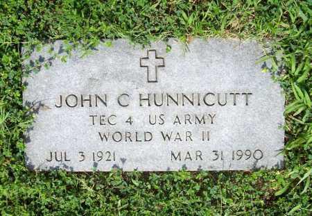 HUNNICUTT (VETERAN WWII), JOHN C. - Benton County, Arkansas   JOHN C. HUNNICUTT (VETERAN WWII) - Arkansas Gravestone Photos