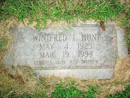 HUNT, WINIFRED I. - Benton County, Arkansas | WINIFRED I. HUNT - Arkansas Gravestone Photos
