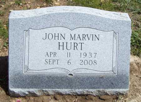 HURT, JOHN MARVIN - Benton County, Arkansas | JOHN MARVIN HURT - Arkansas Gravestone Photos