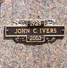 IVERS, JOHN C. - Benton County, Arkansas | JOHN C. IVERS - Arkansas Gravestone Photos