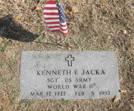 JACKA (VETERAN WWII), KENNETH E. - Benton County, Arkansas | KENNETH E. JACKA (VETERAN WWII) - Arkansas Gravestone Photos