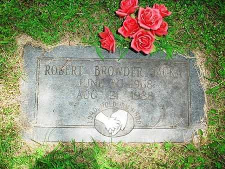 JACKA, ROBERT BROWDER - Benton County, Arkansas | ROBERT BROWDER JACKA - Arkansas Gravestone Photos